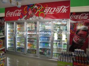 Handelsweg im Glastür-Getränkekühlraum