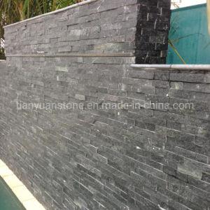 벽 클래딩을%s 자연적인 균열 표면을%s 가진 문화 돌 까만 슬레이트