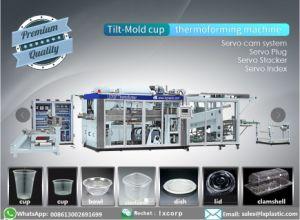 使い捨て可能なコップのためのThermoforming機械を傾け形成しなさい