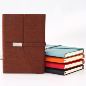 Индивидуальные пользовательские A5 ежедневная повестка дня Pocket Capacity Planner Журнал Дневника PU обложки из кожи пунктирной / DOT ноутбук с поверхности эластичную ленту