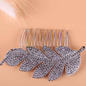 Austrainの水晶結婚式の銀の毛の櫛の毛の装飾の毛のアクセサリのチャーミングな花嫁十分に
