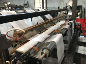 Fully Automatic 6 linhas de produção de T Shirt plástico túnica de vedação a quente inferior do saco de transporte de corte a frio tornando fabricante da máquina no preço de venda