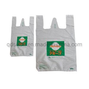 Saco de compras dobrável de plástico de alimentação Saco Polyestert-Shirt sobre venda