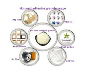 Diaper&serviette dos adhésif Hot Melt