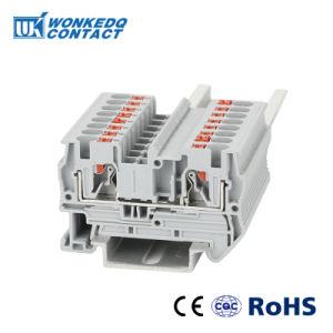 4 mm cable de alimentación a través de empujar el bloque de terminales de primavera