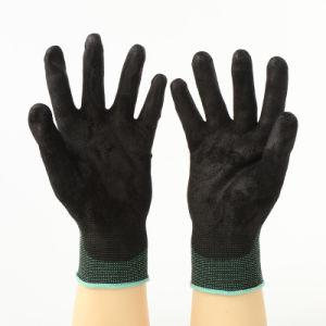 Gants de travail en vinyle avec revêtement en polyuréthane gris, doublure en nylon (JMC-401N)