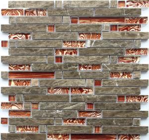 Glace de bâton de mélange et tuile de mosaïque irrégulières conçues populaires de pierre