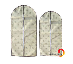 Pp Non Woven Suit Garment Bag met PEVA Cover