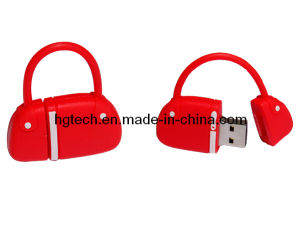 PVC女性ハンドバッグの形USBのフラッシュディスク(HG-014)