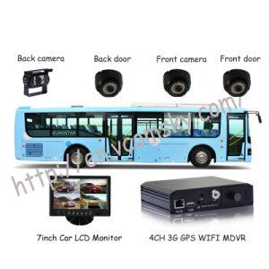 Bus de la escuela Mobile Dvr -- los canales 4D1 Mini SD Card 3G + WiFi+GPS+G-Force