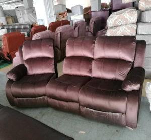 居間の家具および映画館の家具(GA03)のためのファブリック手動タイプリクライニングチェアのソファー