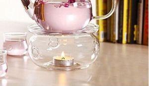 Freie runde Form-Wärmer-Glasunterseite für Tee-Kaffee-Potenziometer-Blumen-Teekanne
