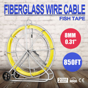 8 mm X 850 a conduta dos Rodder Fita passa fio de fibra nova haste do extrator Fishtape Cabo