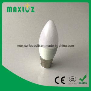 B22 Lâmpada da luz de velas LED com 3W, 4W, 5W, 6W