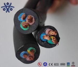 Bt 450/750V 3 Core 5 Core 2,5mm2 4,0mm2 Cabo flexível de borracha