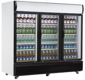 Poupança de energia do resfriador vitrina de exposição popular para compras de supermercado
