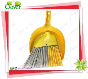 Dustpan e scopa di plastica di pulizia, Dustpan dell'interno domestico di plastica e scopa della spazzatrice di spinta