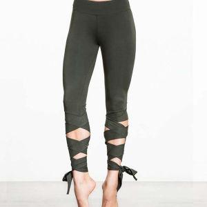 結末のヨガのズボンの適性のズボンのダンスのバレエのストラップが付いたレギング