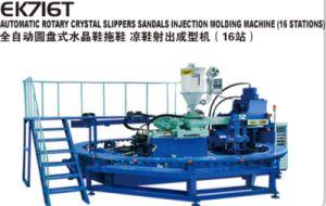 Полностью автоматический ПВХ пластика Crystal сандалии системы литьевого формования машины зерноочистки