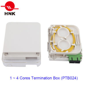 투명한 덮개를 가진 1개의 포트 광학 섬유 케이블 종료 상자