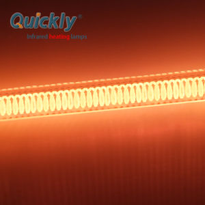 Lâmpada de aquecimento por infravermelhos de cerâmica de halogéneo para a indústria alimentar