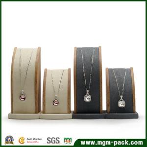 Banco di mostra caldo della collana di legno solido di vendita