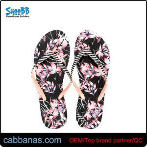 Печать цветов розовый летом пляж платформа Шлепанцы для женщин Дамы