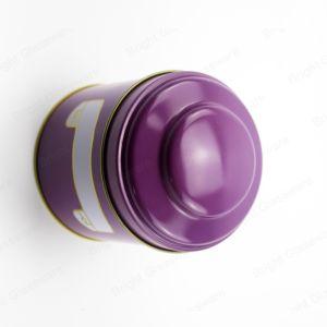 Ronda personalizada Estanho Caixa de metal de biscoito de chocolate para preparar chá e café dom de embalagem