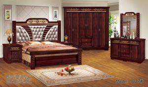 Ensembles de chambre à coucher sur papier Waterboard antique Coiffeuse  Night Stand Hot vendre à Moyen-Orient Afrique lit simple lit double 2019