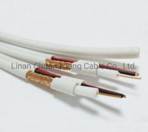 Câble coaxial RG59+2c câble siamois caméra CCTV de la sécurité des communications audio et vidéo