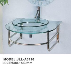 Vidro de banho da Bacia Hidrográfica com Espelho Bacia clara com aço inoxidável