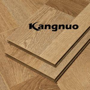 Prensado de madera 12mm U-Groove Lamiante piso para el hogar