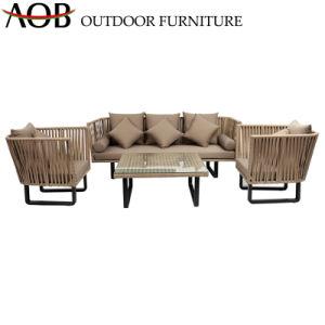 Hospitalidade moderna chinesa pátio jardim exterior Home móveis de vime Vime Lounge apresenta mobiliário de sofá com fezes Contemporâneo