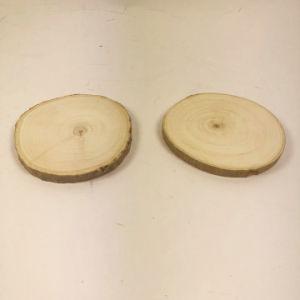 Fsc fatias de Log de madeira natural de Montanha Russa de bricolage com casca de árvore