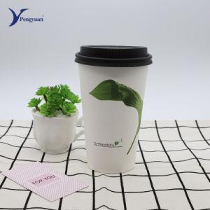 Impressão directa de Fábrica Personalizada descartáveis chá café de venda de bebidas a capa de papel com tampas