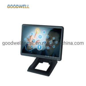 Entrada VGA DVI HDMI painel IPS Tela sensível ao toque do monitor LCD de 1024 X 600, Monitor de ecrã sensível ao toque de 10,1 polegadas