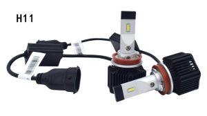 H11 LED iluminación de automoción Kit H7 9005 9012 Mordazas desmontables M3 de faros automático para Toyota con ventiladores de refrigeración