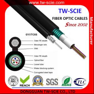 24cores acier aérienne Messenger câble à fibre optique (GYXTC8S)