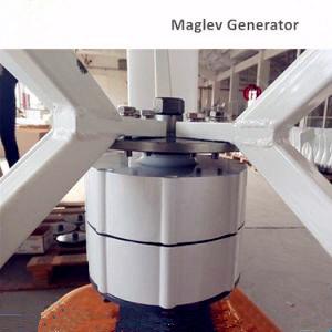 AC-120V 5kw Turbine éolienne à axe vertical pour utilisation à domicile (SHJ-VH5000)