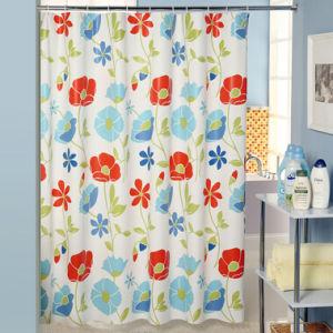 Impresso de poliéster a cortina do chuveiro 180*180cm