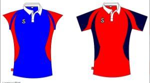 Camicia di polo su ordinazione di pallavolo (T015)