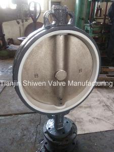 Dn600 Di Disc Válvula Borboleta Wafer de banco de PTFE com caixa de engrenagens