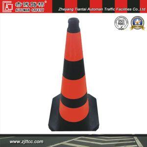 75cm trafic cône en caoutchouc souple avec bandes réfléchissantes Orange (CC-A29).