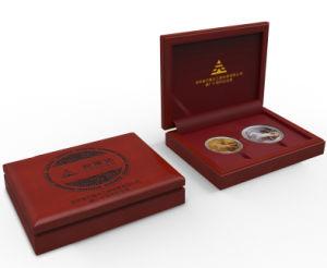 布のリングの宝石箱、木の収納箱、ペーパーネックレスボックス、硬貨のギフト用の箱、革宝石類の箱、哨舎(002)