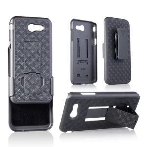 Samsung J3のベルトクリップが付いている織り方パターンホルスターの電話箱のための工場価格