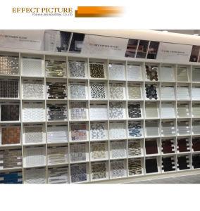 Showcase стены из нержавеющей стали и выпуклой стеклянной мозаики (M823060)