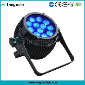 12 piezas de alta potencia 14W Rgbaw+UV LED Exterior PAR Luz Can