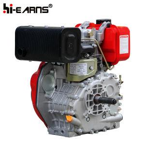 Dieselmotor met de Schacht van de Spiebaan met de Pomp van het Water wordt gekenmerkt (HR178F die)