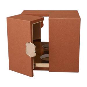 Madera de cuero de PU de Cuidado Personal envases cosméticos Maquillaje Perfume Regalo Box