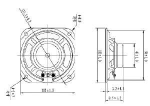 Gama completa de Driver de alto-falante 102 mm 8 ohm altifalante de 3 W com alta qualidade Dxyd102W-45Z-8A-F